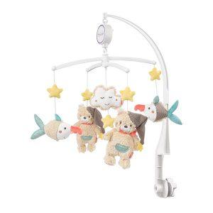 آویز تخت موزیکال بیبی فنBabyfehnطرح-خرس