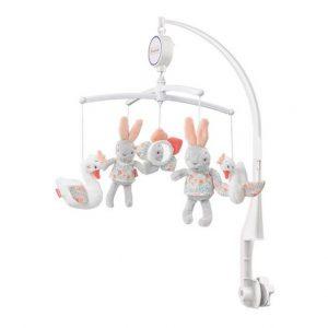 آویز تخت موزیکال بیبی فنBabyfehnطرح-خرگوش