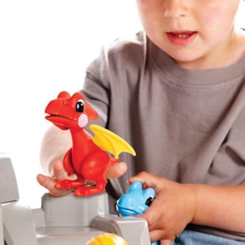 اسباب بازی(مفصلی) دایناسور بالدار قرمز طرح-Tolo