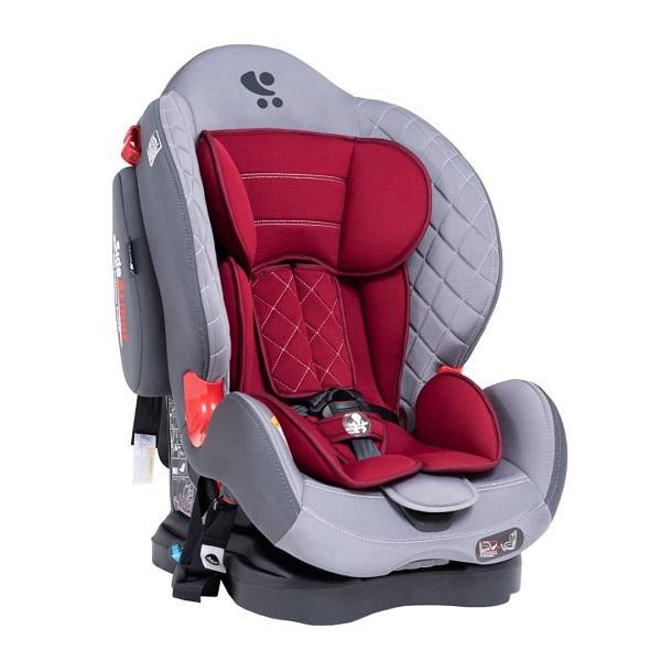 صندلی ماشین لورلیlorelli ایزوفیکس دار رنگ-زرشکی-طوسی