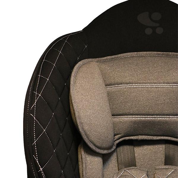 صندلی ماشین لورلیlorelli ایزوفیکس دار رنگ-طوسی-کرم